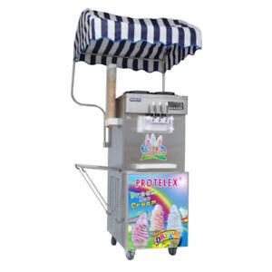 Protelex Eismaschine Softeismaschine Eiscreme Frozen Yogurt  Maschine 2700W