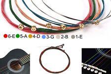 Gitarrenseiten Satz 6 Stück Akustik Gitarre Seiten SET Western Stahl Bronze 6er