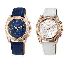 Damenuhr Uhr Armbanduhr mit Zirkonia Rosé Weiß Blau Geschenk