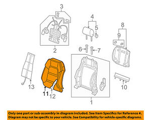 AUDI OEM 08-11 A6 Quattro Front Seat-Cushion Cover-Top Back Left 4F0881805BB1KV