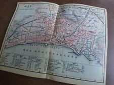 antik Landkarte kleine alte Karte Nice Nizza um 1880