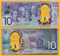 Canada 10 Dollars p-112 2017 Commemorative UNC Polymer Banknote