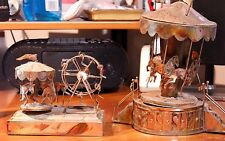 2 Copper Carousel Merry Go Round Music Boxes-Each Damaged 1 Berkeley Designs