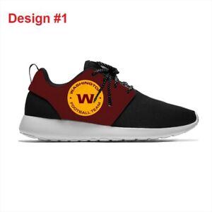 WASHINGTON Lightweight Tennis Shoes Men's Womens REDSKINS Sneakers Football Logo