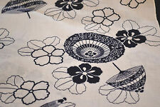 Japanese Cotton Fabric White with Umbrellas and Flowers 038
