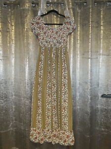 Vintage Sheer Maxi 1960/70's  Dress Size (8-12) Made in Britain By StMichael