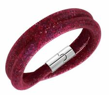 Swarovski 3D Stardust Red Double Bracelet Size: S  purple/red crystals  5139748