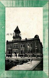 Fargo North Dakota ND Masonic Temple Faux Frame 1909 Vtg Postcard