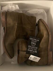ISABEL MARANT Olive Brown Suede Crisi Boots SZ FR 39 BNIB