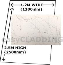 TOUGHEST Large WHITE MARBLE PVC Wall Cladding Shower Boards Splashpanel Panels