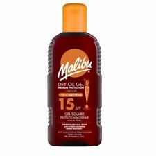 Malibu Dry Carrot Oil Gel Water Resistant Added Carotene SPF 15 200ml