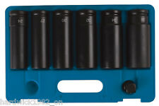 EXTRA LONG (120mm) IMPACT SOCKET SET 7 PIECE 24mm - 36mm  3/4 Drive  12 POINT