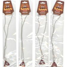 Rhode Island Novelty - Emoticon Poop Necklaces - SET OF 4 EXPRESSIONS (16 inch)