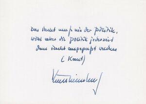 KURT BIEDENKOPF --- original signiert - A1#15