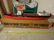 Vintage Texaco battery operated model gas, oil tanker ship North Dakota. Rare!