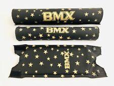 NOS BMX Polster Set Pad Set NEU Old School Retro Schwarz Gold 3-teilig