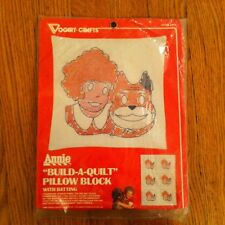 Vintage Vogart Crafts Annie Build A Quilt Pillow Block New In Package Unopened