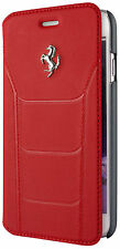 "Genuine Ferrari 488 Book Type Case Cover Silver Logo For iPhone 6 6s 4.7"" Red"