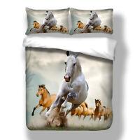 Animal Duvet Cover Set for Comforter Twin Full Queen King Size Bedding Set Horse