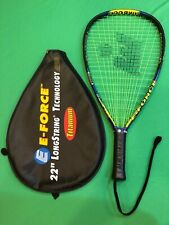 """E-Force Ambush Racquetball Racquet 22"""" Long String With Case New Overgrip Nice"""