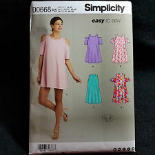 Plus Size Womens Easy Pattern Trapeze Sleeves Sz R5 14 to 22 Simplicity D0668