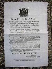 K685-NAPOLEONE-DECRETO BOLLATURA DI FOGLI DI GIORNALE