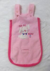 0-3 Mnth Baby Okie Dokie Pink Fleece Bunny Rabbit Bunting Sleepsack Blanket B59