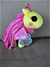 "2013 MGA Llaloopsy Ponies Honeycomb (Bumble Bee) Look Pony 6"" Plush Stuffed Tag"
