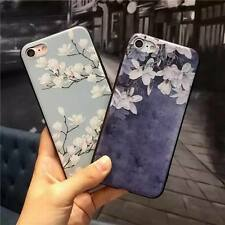 Cute Rubber Soft Silicone Pattern Flower Phone Case Cover For iPhone 6 6s 7 Plus