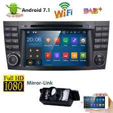 "Android 7.1 Car Standard Radio DVD 7"" GPS Stereo for Mercedes Benz E Class W211"