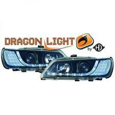 Scheinwerfer Set für Peugeot 306 93-97 Klarglas/Schwarz LED Dragon Lights