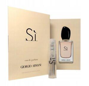 Giorgio Armani Si Eau de Parfum 1.2ml Spray Sample Vial Womens Perfume Genuine