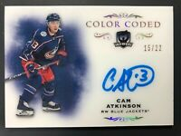 2018-19 Upper Deck The Cup Cam Atkinson Color Coded Auto /22