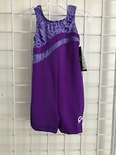Gk Elite Gymnastics Biketard Child Small Nwt