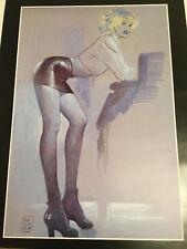 Sexy Segretaria grandi erotico poster da Milo Manara