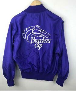Vintage Breeders Cup Windbreaker Jacket Large Purple Oak Tree Santa Ana 1993