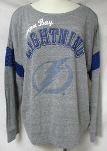 Tampa Bay Lightning Women's Size X-Large Rhinestone Accent Shirt A1 3280