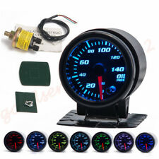 "Universal 2""/52mm 7 Color LED Car Vehicle Oil Pressure Meter With Sensor&Holder"