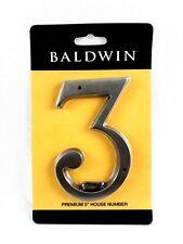 "Baldwin 90673151 Premium 5"" House Number 3 Solid Brass"