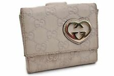 Authentic GUCCI Guccissima Wallet White 92005