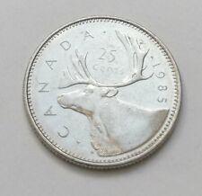 Pièce de monnaie 25 cents Elizabeth II 1985 Canada