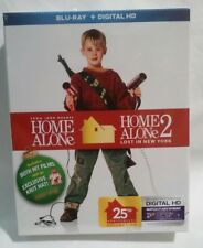 Home Alone 1 & 2 (Blu-Ray + Digital HD) Includes Knit Hat -NEW-