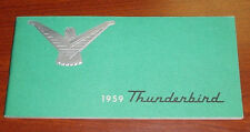 1959 Ford Thunderbird Factory Original Owners Manual First Edition 1958 Print