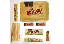 Raw Small Tray Set Organic Hemp Rolling Papers Case Filter Tips Rolling Mat Set