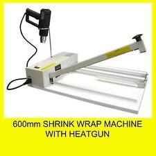 600mm Shrink Wrap Machine with Heatgun and Roll Dispenser Brand New