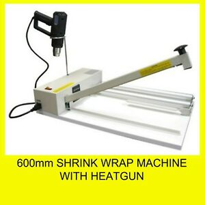 600mm Shrink Wrap Machine with Heatgun and Roll Dispenser Brand New