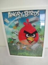 """ANGRY BIRDS HOLOGRAM PICTURE WALL HANGING 3D ROVIO 14 3/4"""" X 11 3/4"""""""
