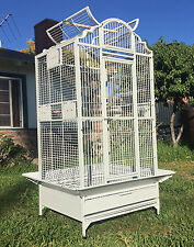"63"" Large Wrought Iron Open Dome Play Top Parrot Macaw Cockatoos Bird Cage 258"