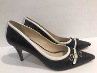 Escasa Womens Pumps Classics Heels Black White Size 37 EUR 6.5 US