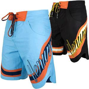 Venum Herren Boardshorts Cutback Schwarz Blau Badeshorts Badehose Beachshorts